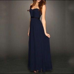 BCBGMaxAzria Dark Blue Classy Long Dress/Gown